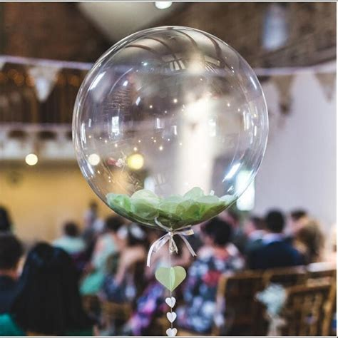 1pc 10/18 inch No Wrinkle Bobo Transparent Clear Balloons