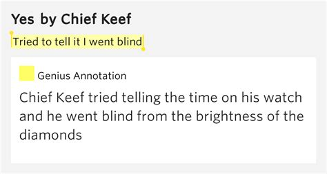 Tried to tell it I went blind – Yes Lyrics Meaning